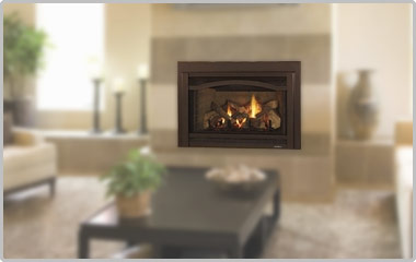 Replace your wood fireplace with a gas fireplace insert